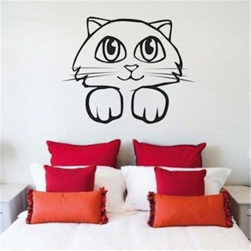 Kucing Kitty Stiker Dinding Dekorasi Rumah Kamar Tidur Lucu