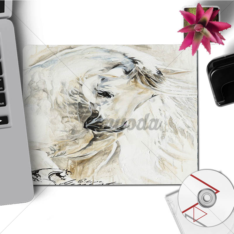 Yinuoda New Running Animal Black and White Horse Mouse Mat Gaming Mousepad Size for Size for 180x220x2mm and 250x290x2mm