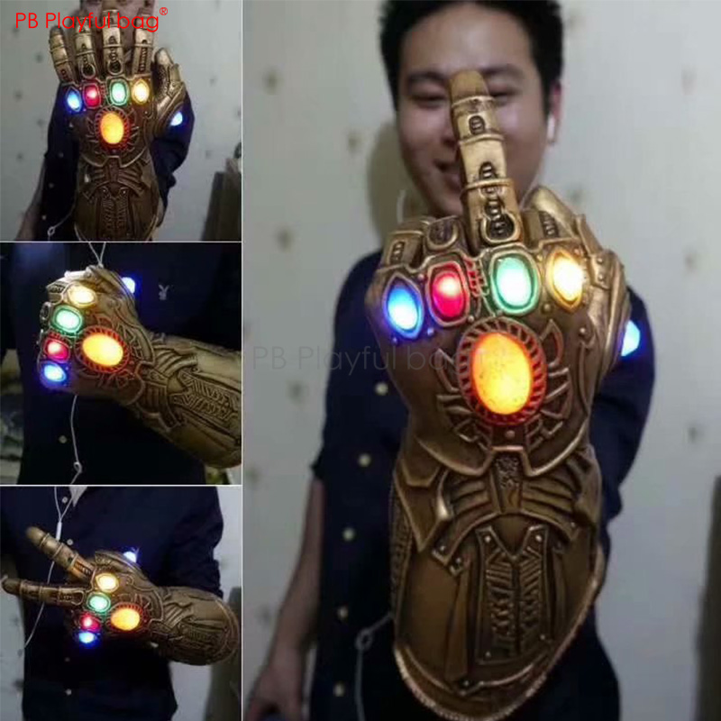 Fashion 34CM Thanos Infinity Gauntlet Luminous Gauntlet Avenger 4 Movie Peripherals Best Children Birthday Gifts HB33