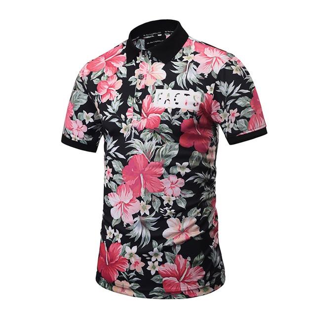 2017 3D Цветочные Череп Печатные Камуфляж Повседневная Tee Shirt Мужчины Polo Camisa Polo Homme Мужская С Коротким Рукавом Polo Shirts