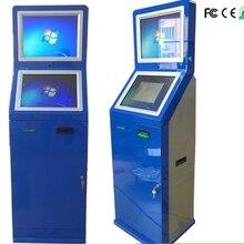 Автономный кассовый киоск с купюроприемником/самозаселяющийся киоск с Биометрическим считывателем отпечатков пальцев
