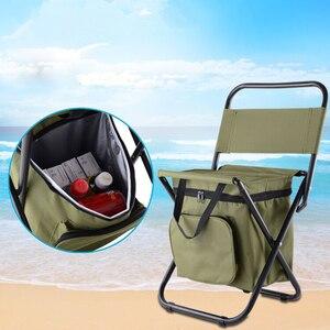 Image 5 - Vilead折りたたみポータブルキャンプクーラー椅子ピクニック釣りビーチハイキングアウトドアリュック超軽量シートテーブルキャンプスツール