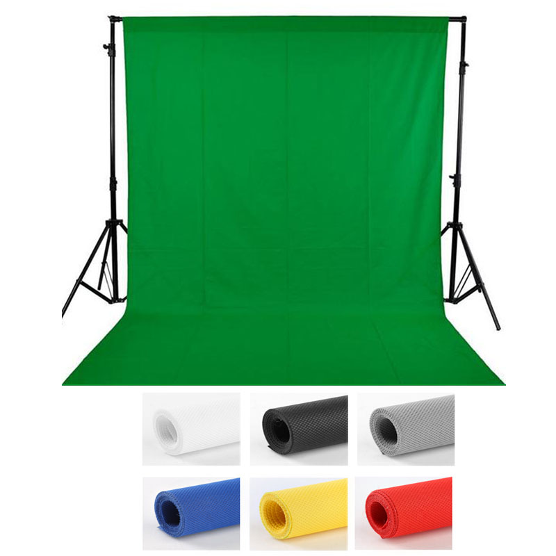 2X3m Photography backdrops Green screen hromakey background chromakey non-woven fabric Professional for Photo Studio 7colors horizontal art fabric party photography backdrops fairy tale stairs photo background for portrait xt 3856