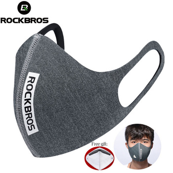 ROCKBROS Cycling Face Mask Anti-dust Breathable Windproof Face Shield PM 2.5 Protection Mouth-Muffle Soft Mask For Face 5 Filter