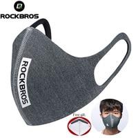 ROCKBROS רכיבה על אופניים פנים אנטי אבק לנשימה Windproof מגן פנים PM 2.5 הגנת פה מופל מסכה רכה עבור פנים 5 מסנן-בכובעים לרכיבה על אופניים מתוך ספורט ובידור באתר