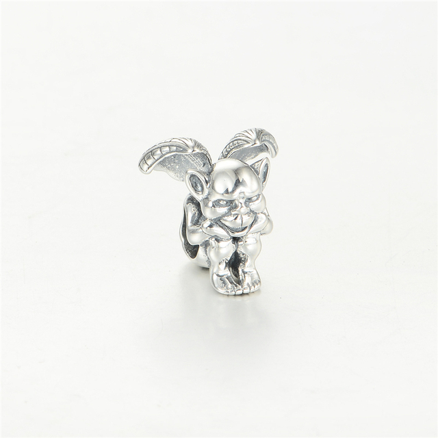 Vintage Wing Devil DIY Halloween Beads Fit Pandora Charms Silver 925 Original Bracelet New Charm Beads for Jewelry Making
