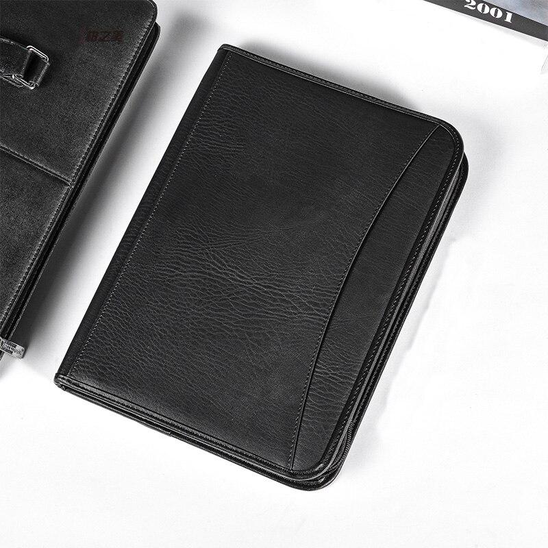 Винтажная искусственная кожа A4 Padfolio для мужчин, бизнес менеджмент, Контрактная Сумка для документов, менеджер, папка для файлов для дизайне