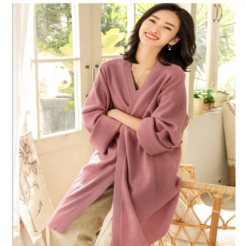 Spring summer tops for women 2019 Long Sleeve Cardigan Sweater Knitted Cardigans For Women Casual Solid  Sweaters online chines-in Cardigans from Women's Clothing    1