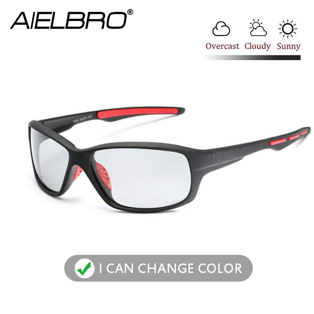 AIELBRO Photochromic Sunglasses Men Polarized Driving Cycling Hiking Chameleon Glasses Male Change Color SunGlasses Eyewear