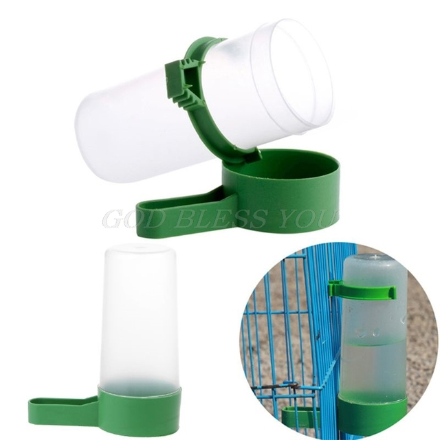 1Pc Bird Drinker Food Feeder Waterer for Aviary Budgie Finches Canary Anti Algae NEW