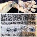 Черное Кружево Ногтей Наклейки Белый Ногтей Наклейки Маникюр Кружева 3D Наклейки Ногтей Украшения Ногтей Украшения Наклейки