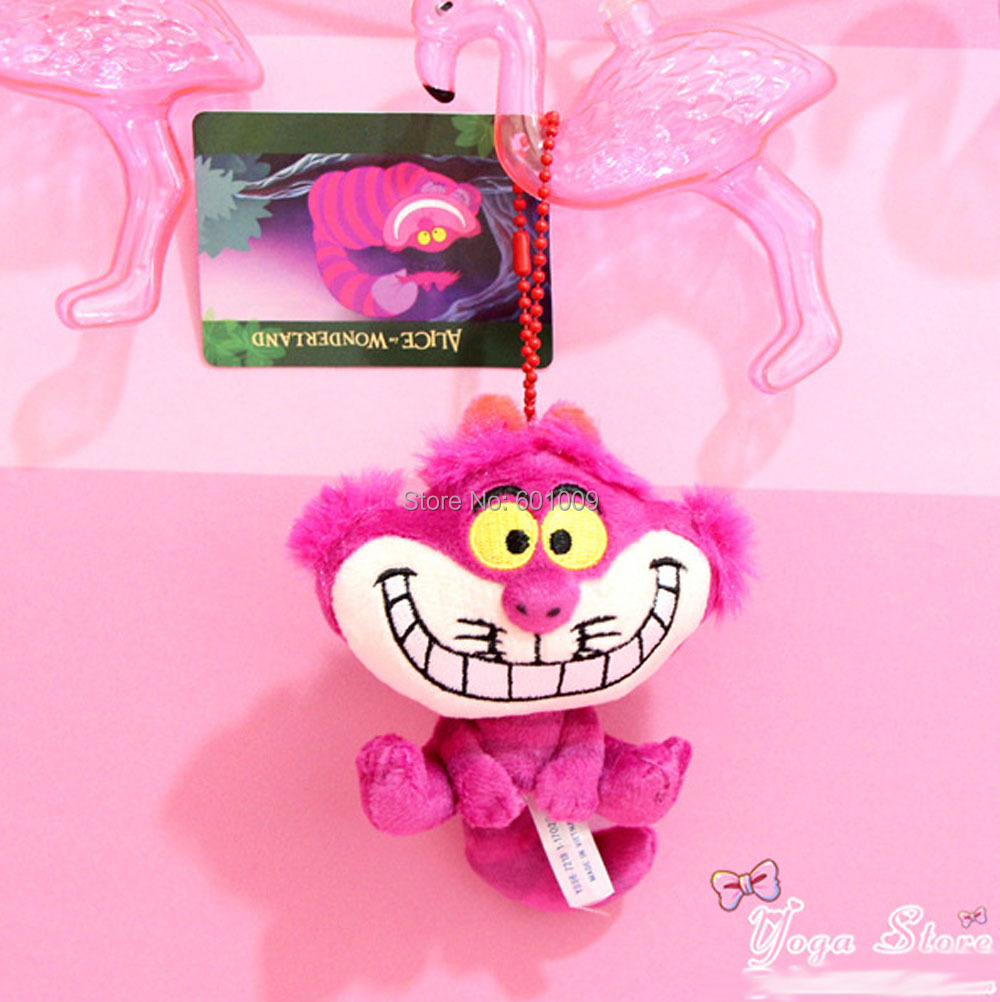 10 Lot 10CM Cheshire Cat Plush Keychain Doll Soft Great Gifts 1 Retail