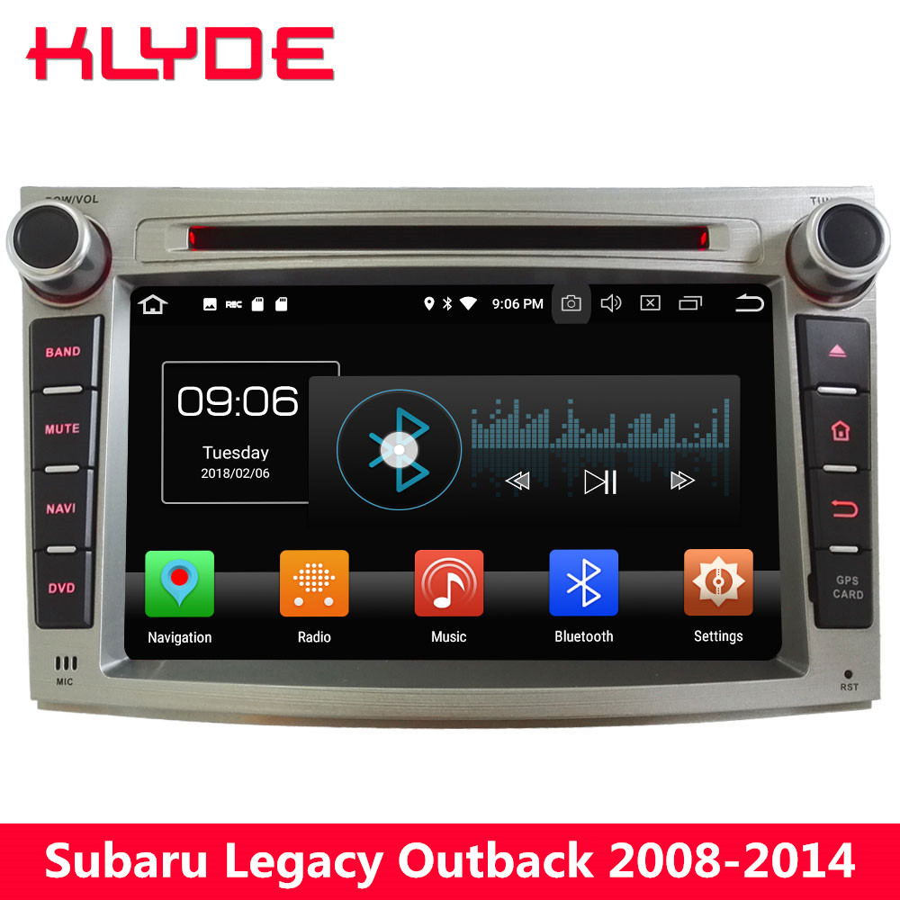 KLYDE 7 4G Android 8.0 Octa Core PX5 4GB RAM 32GB ROM Car DVD Player Stereo GPS Navigation For Subaru Legacy Outback 2009-2014