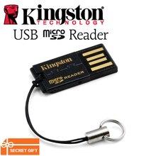 كينغستون Usb مايكرو قارئ البطاقات SD SDHC SDXC عالية السرعة فائقة صغيرة بطاقة الهاتف المحمول متعددة FCR MRG2 USB TF محول قارئ بطاقات