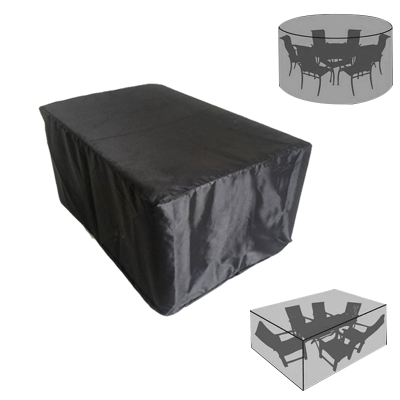 Garden Furniture Home Rain Cover Waterproof Oxford Wicker Sofa Protection Set Garden Patio Rain Snow Dustproof Black Covers