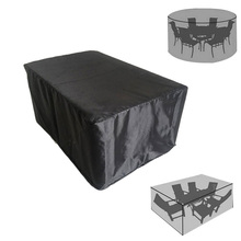 Garden Furniture Home Rain Cover Waterproof Oxford Wicker Sofa Protection Set Garden Patio Rain Snow Dustproof Black Covers цена