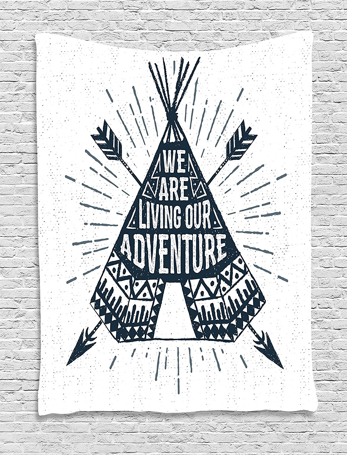 Home Textile Adventure Duvet Cover Set Teepee Crossed Arrows We Are Living Our Adventure Inspirational Lettering Decor 4pcs Bedding Set Bedding