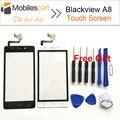 Blackview a8 pantalla táctil 100% pantalla táctil de pantalla original de reemplazo del panel digitalizador para blackview a8 smartphone en stock