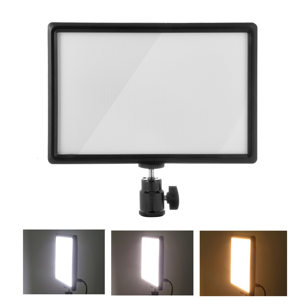 Black Aluminum LED Dimmable Po Video Fill Light Lamp for Camera Nikon Canon Sony Wedding Pography Lighting