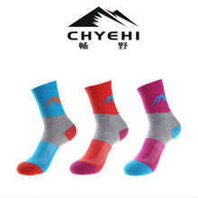 Women Sports Socks (3 Pairs/lot) CHYEHI W008 Quick Dry 78% Cotton Outdoor Climbing Hiking