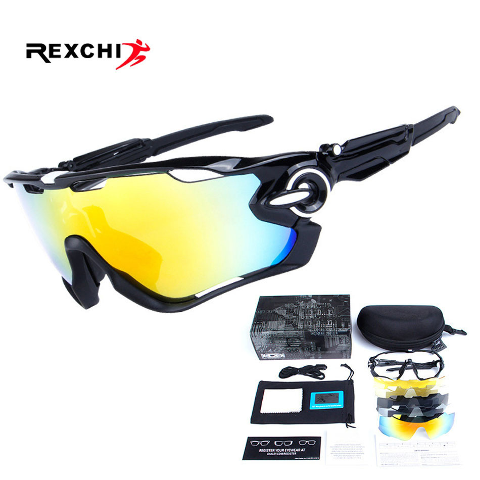5 Lens Sports Eyewear Polarized Cycling Sunglasses UV400 Men Women for Outdoor MTB Bike Goggle Bicycle Fishing Golf Cool Glasses oreka 2140 outdoor sports uv400 protection blue revo lens polarized sunglasses black