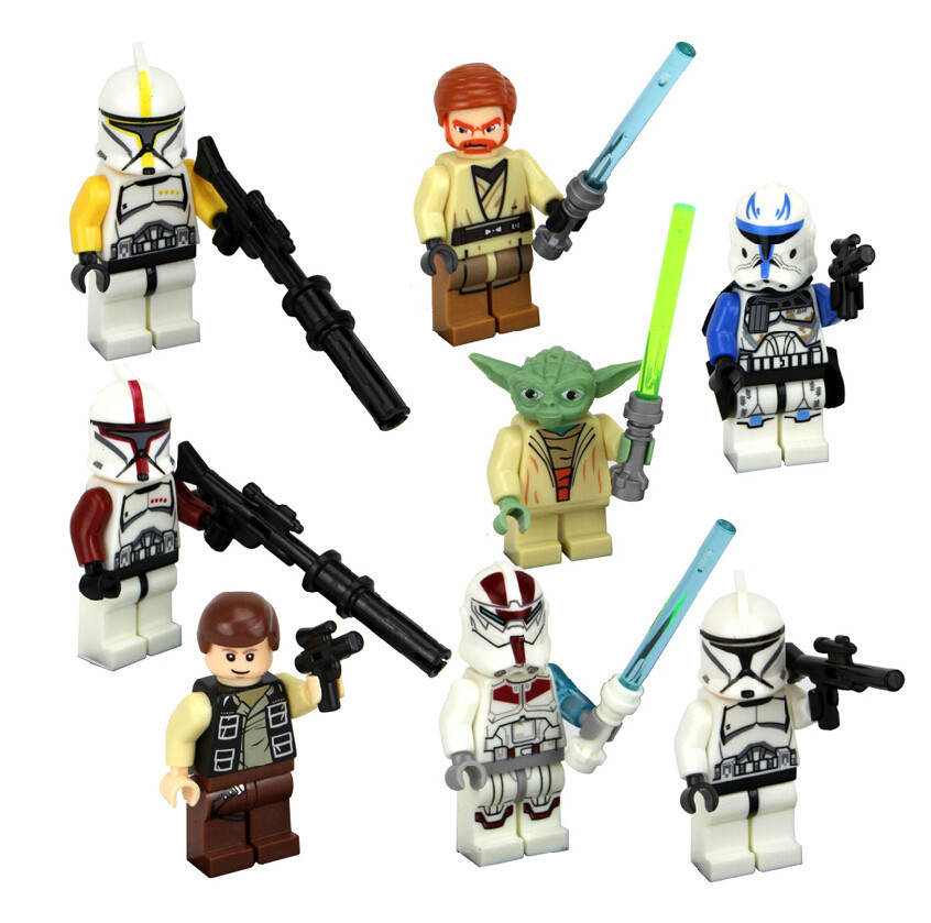 Super hero ftoys 8 unids/lote star wars the clone wars series juguetes clásicos