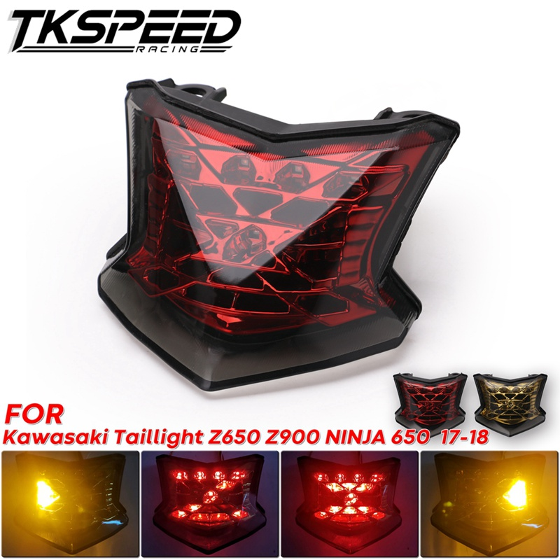 Motorcycle LED Rear Tail Light Brake Stop Light Turn Signals For Kawasaki Taillight Z650 Z900 NINJA 650 ABS 2017 2018