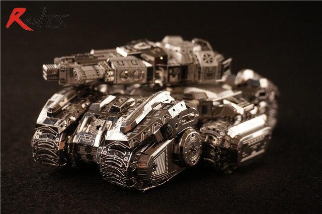RealTS MU 3D Metal Puzzle Star Craft Terran Siege Tank Model SAST-N01 DIY 3D Laser Cut Assemble Toys For Adult