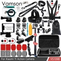 Vamson For Xiaomi Yi Accessories Kit Standard Frame Waterproof Housing Case Neck Strap Selfie Stick For