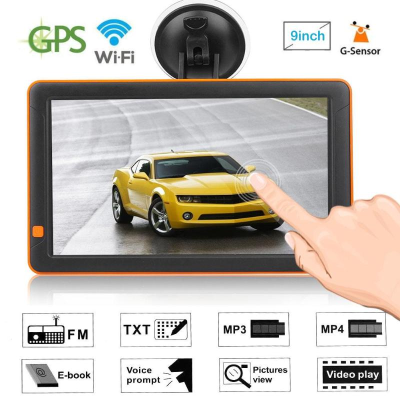 9 inch HD Car GPS Navigation Navigators FM MP3/MP4/MP5 Players Truck Night Vision G-sensor GPS Sat Navi Automobile new 7 inch hd car gps navigation fm bluetooth avin map free upgrade navitel europe sat nav truck gps navigators automobile