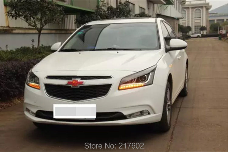 for Chevrolet Cruze Tuning bi-xenon Projector Lens Head lights with LED Turn light 2015 year, New Arrival ! for chevrolet cruze tuning head lights with led turn light