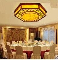 Современный китайский деревянный верхнего света простой овчины ретро ПВХ Ресторан отеля потолочные светильники