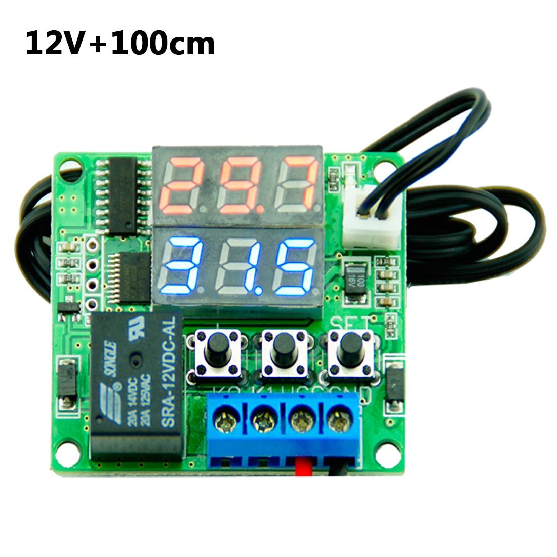 12V Intelligent Digital Thermostat Temperature Controller Regulator with NTC