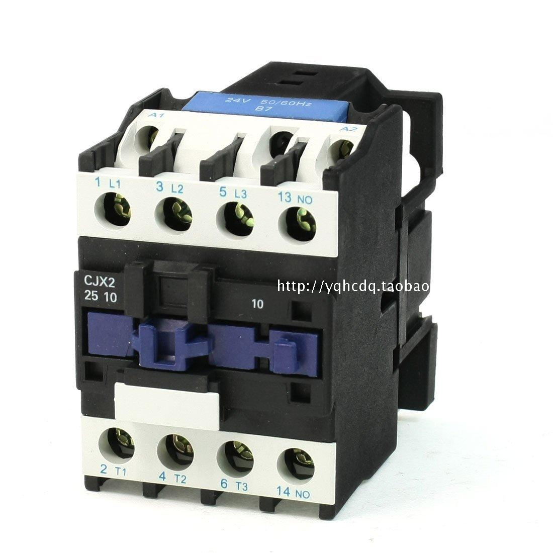 Shanghai people's AC contactor 220V/380V 25A CJX2-2510 AC contactor silver point cjx2 lc1 1210 25a 220v 660v ac contactor black white