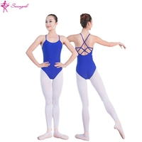 Royal Blue Camisole Ballet Leotards For Women In Lycra Ballet Costumes Dance Leotard Girls DancewearML6012