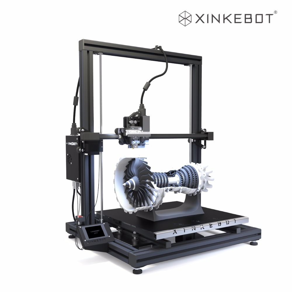 Large 3D Printer Dual Extruder Auto Leveling Xinkebot Orca2 Cygnus 400 x 400 x 500 Build Volume All Metal Frame Free Shipping  2017 xinkebot all metal 3d printer led single dual extruder 400x400x480mm big size 3d printer