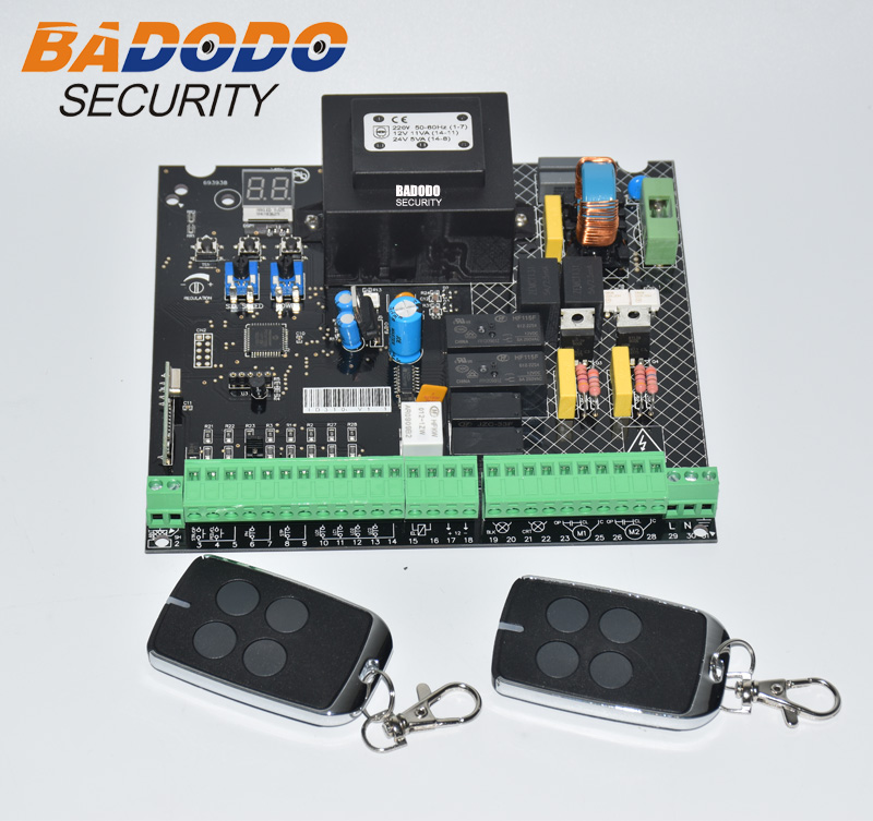 Image 2 - Universal 230VAC Power input Swing Gate opener board card chip circuit board controller Control Panel remote control optional-in Control Card Readers from Security & Protection