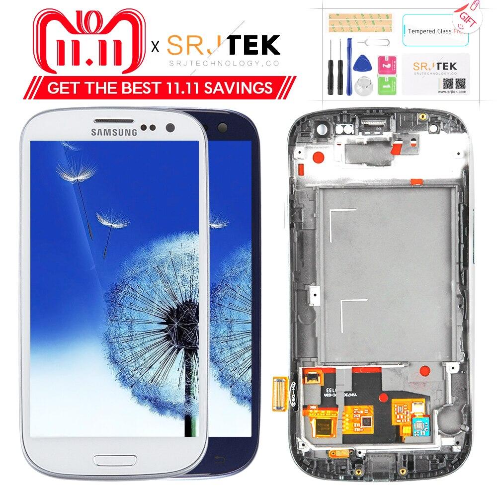 Prueba para SAMSUNG Galaxy S3 pantalla i9300 i9300i digitalizador de pantalla táctil para reemplazo para SAMSUNG Galaxy S3 pantalla LCD