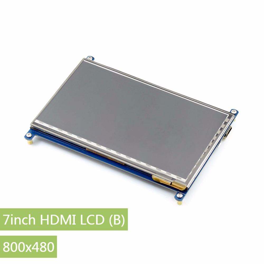 Parts Raspberry Pi 3 Display 7inch LCD (B),800*480 HDMI monitor 7'' Capacitive Touch Screen for Raspberry Pi,Support Windows10/8 5pcs lot 7 inch lcd screen 800 480 display monitor for raspberry pi driver board hdmi vga 2av 165 100mm