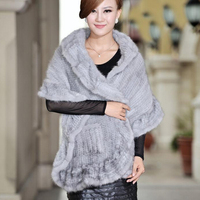 Women's winter real mink fur cape outerwear luxury knitted mink fur pashmina bride fur shawls women ladies party wrap