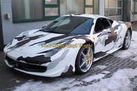 Black White Jumbo Arctic Snow Camo Vinyl Wrapping Film Car Body Wrap Sticker Bubble Free For Racing Car