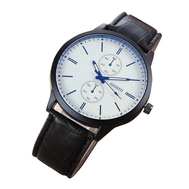 2017 Luxury Fashion Men Watch Quartz Fashion Male Business Watch Analog Leather Electronic Wrist Watche blue shope #3005