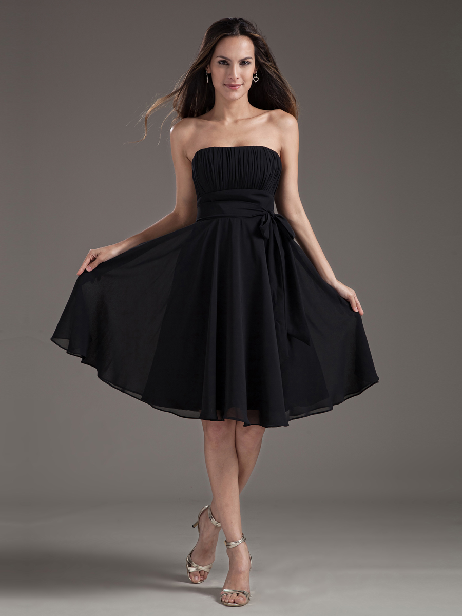 Online get cheap black bridesmaid dresses under 100 aliexpress cheap short chiffon bridesmaid dreses under 100 cheap little black party dress homecoming gowns custom made ombrellifo Image collections
