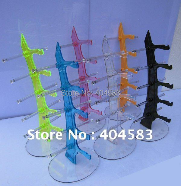 2pcs/lot Plastic Multi-color Spectacle Eyewear Sunglasses Displays Stand Holder Rack  Tabletop Show Stand