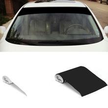 6 X 60 Vinyl Car Sticker Windshield Banner Strip Racing Stripe Window Sun Visor Decorative Sunscreen Black White