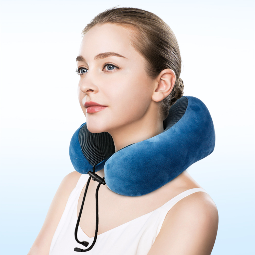Image 3 - Travel Pillow Memory Foam Neck Pillow Outdoor Tool Neck Head Support Pillow with Waterproof Travel Bag Eye Mask Outdoor Tool-in Outdoor Tools from Sports & Entertainment