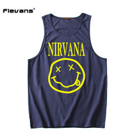 Flevans Fashion Mens Tank Top Casual Fitness Singlets Brand Clothing Sleeveless Hip Hop Vest Nirvana Print