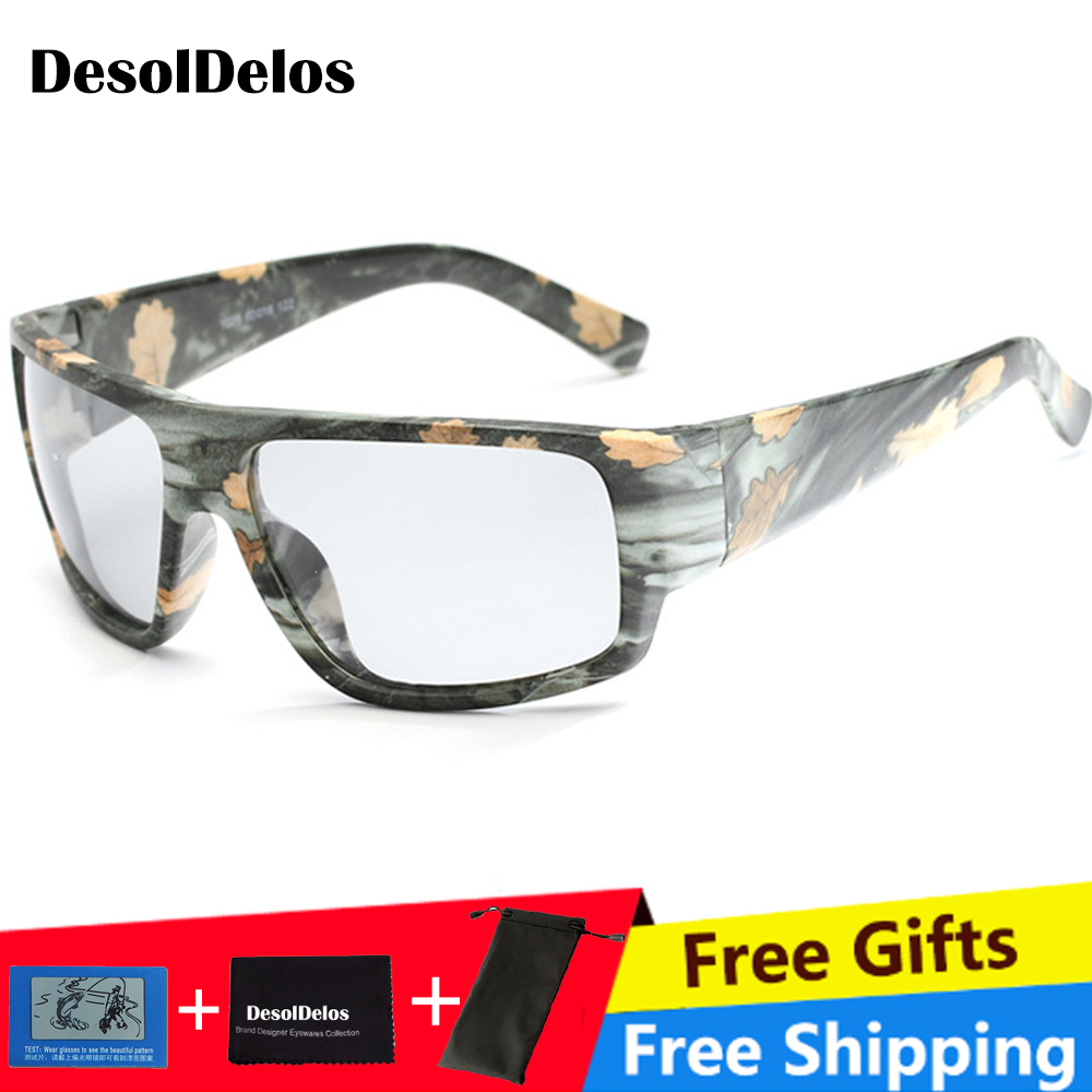Mens Outdoor Driving Fishing Sunglasses Transition Lens HD Polarized Photochromic P020