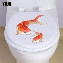 YOJA 23*20 CM de Peixes Da Família Banheiro Adesivo de Parede Decalque Decoração de Casa Arte Moderna T3-0795