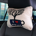 2 pcs Digital printing Chinese style car pillow /Linen Car Headrest Supplies/ Neck Auto Safety Head Neck Rest Cushion Headrest